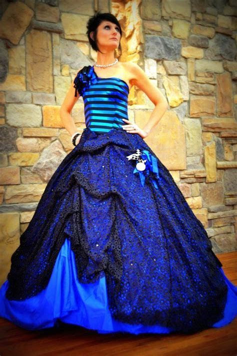 Blue Wedding Gown , Bridal Gown , Quinceanera Gown. Custom