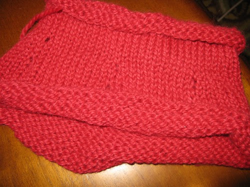 Red cowl--in need of repairs