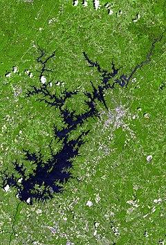 Lake lanier satellite map.jpg