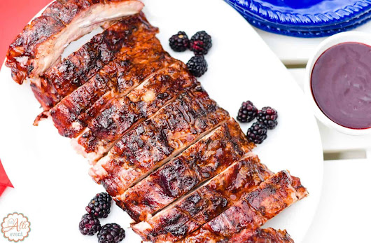 How to Make Delicious Blackberry Glazed Grilled Ribs - An Alli Event