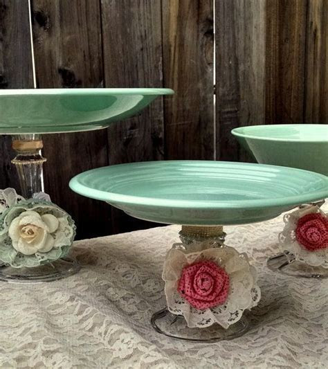Mint Green Shabby Chic Wedding Dessert Candy Buffet Dish