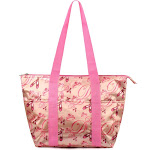 Zodaca Large Reusable Insulated Leak Resistant Lunch Tote Carry Organizer Zip Cooler Storage Bag, Pink