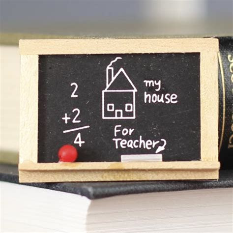Miniature Chalkboard   Library Miniatures   Dollhouse
