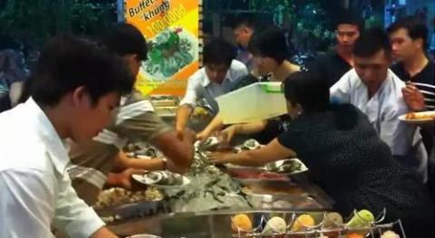 ăn buffet, người Việt ăn buffet, văn minh buffet
