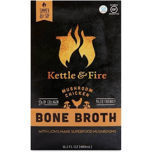 Kettle & Fire Bone Broth, Mushroom Chicken - 16.2 fl oz
