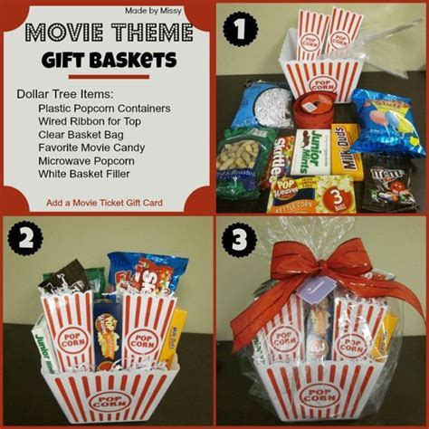 Movie Theme Gift Basket (using Dollar Tree Items)   With