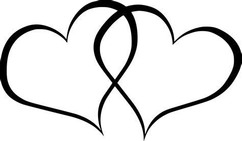 Clipart   double hearts
