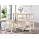 Acme Nyssa 3-pc. Counter-height Set - Buttermilk