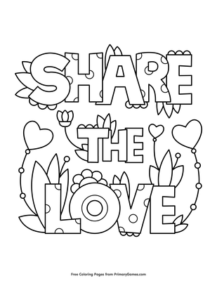 Get Inspired For Share The Love Coloring Pages Anyoneforanyateam