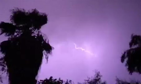 Lightning All Over Jerusalem & Dead Sea