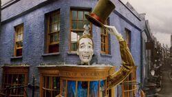 Exterior of Weasleys Wizards Wheezes shop.JPG