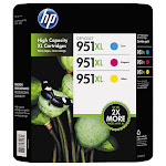 HP 951XL High Yield Ink Cartridge, Tri-Color Pack