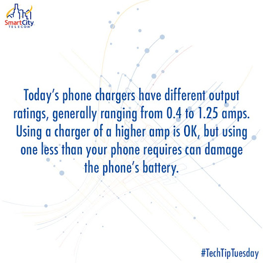 "Smart City Telecom on Twitter: ""#TechTipTuesday #smartphone #chargers """