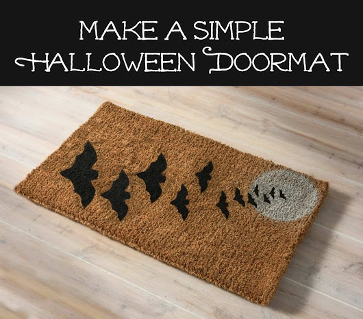 Make a Simple Halloween Doormat -