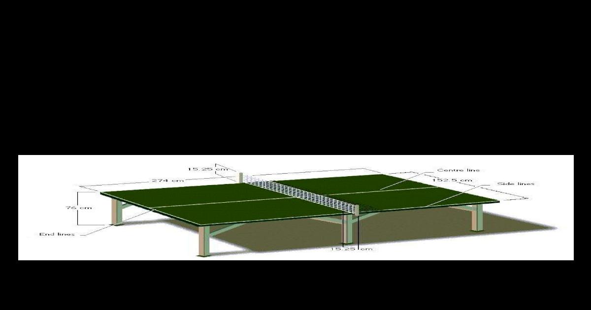 Gambar Lapangan Tenis Meja Dan Ukuran Gambar Lapangan