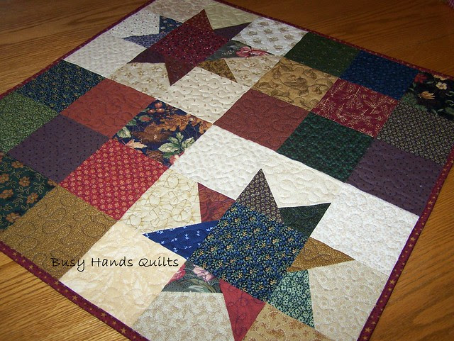Scrappy Star 9-Patch Wall Hanging Quilt