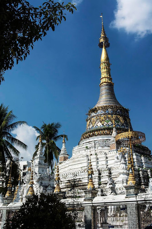 Burmese-style Chedi studded with Glass Mosaic by  on YouPic