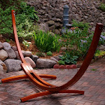 Algoma Outdoor 12' Wooden Arc Hammock Stand