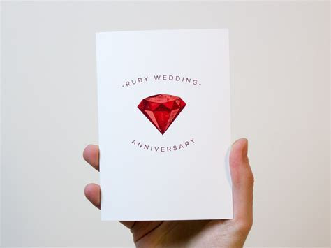 Ruby Wedding Anniversary Card   40 Year Wedding