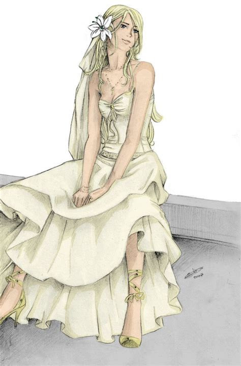fleur delacour drawings   Fleur:Wedding dress by nami86 by