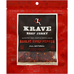Krave Beef Jerky, Garlic Chili Pepper - 2.7 oz pouch