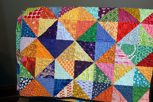 Color Wheel Charm Swap Quilt