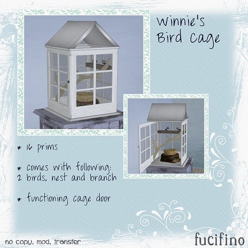 fucifino.winnie's bird cage for La Venta Eventa