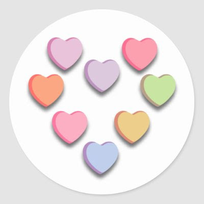 Conversation Candy Heart designs. Popular candy heart sayings and blank