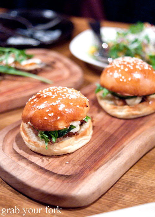 roasted pork buns at press food and wine adelaide
