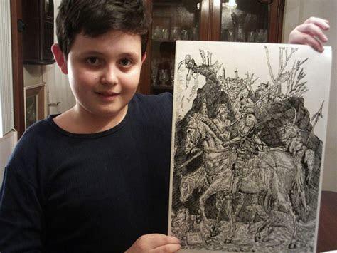year  boy creates   awesome  detailed