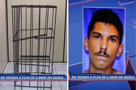 Pai mantinha filha de 6 anos presa em gaiola e a torturava com choques elétricos no RJ