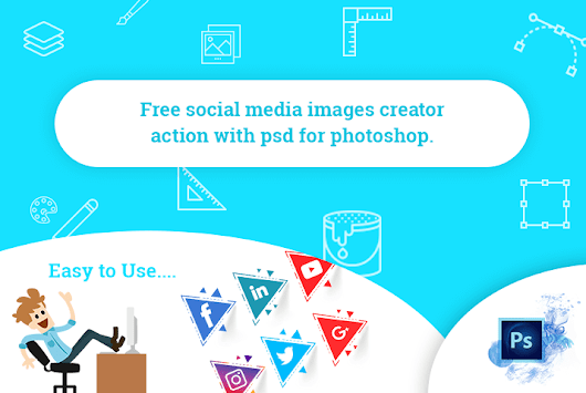 Free Social Media Image Create Action with PSD for Photoshop