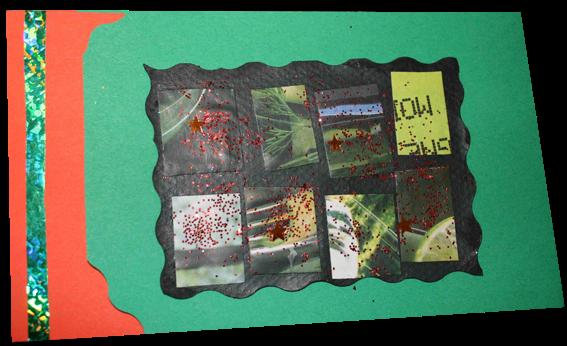 carte de voeux réalisée à partir de magazines