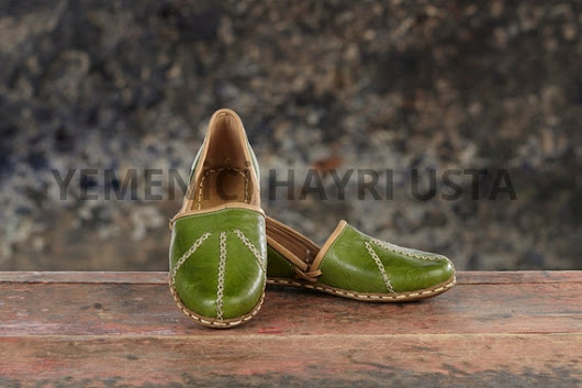 Genuine Leather HandMade Organic Shoes Yellow . All by Turksh