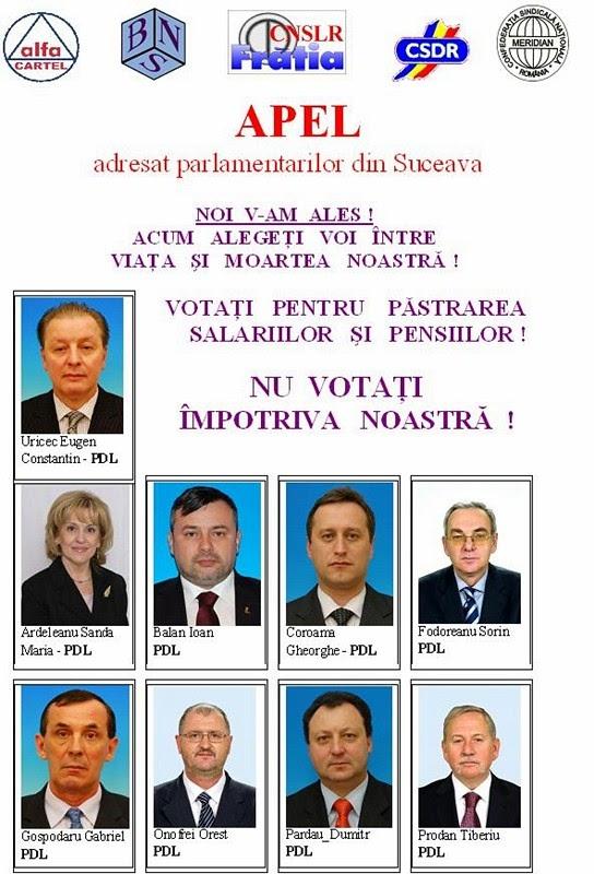 Parlamentarii PDL, somaţi să voteze moţiunea