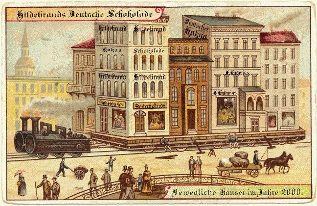 carte postale 2000 futur 03 En 1900, des cartes postales imaginent lan 2000  histoire featured design