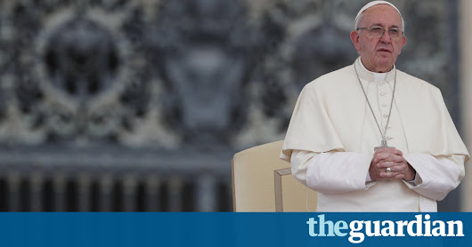 Pope Francis says destroying the environment is a sin | World news | The Guardian