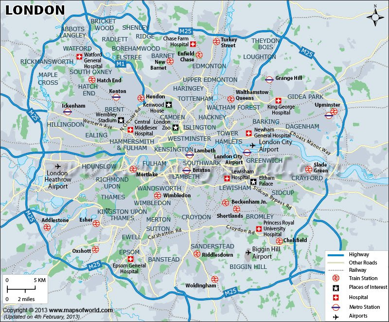 Geographical Map Of London.Map London Usa Map Guide 2016