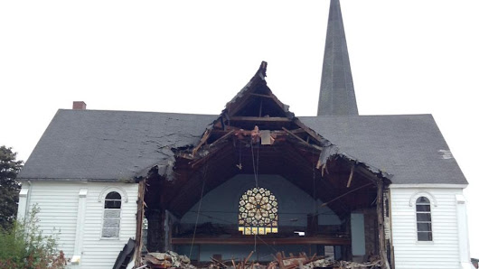 Demolition of former United Church in Sackville begins