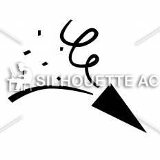 クラッカーシルエット イラストの無料ダウンロードサイトシルエットac