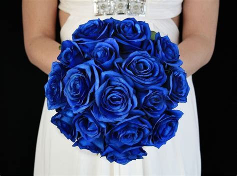 Royal Blue Brides Bouquet. Complete wedding flower package