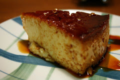 A perfect slice of flan