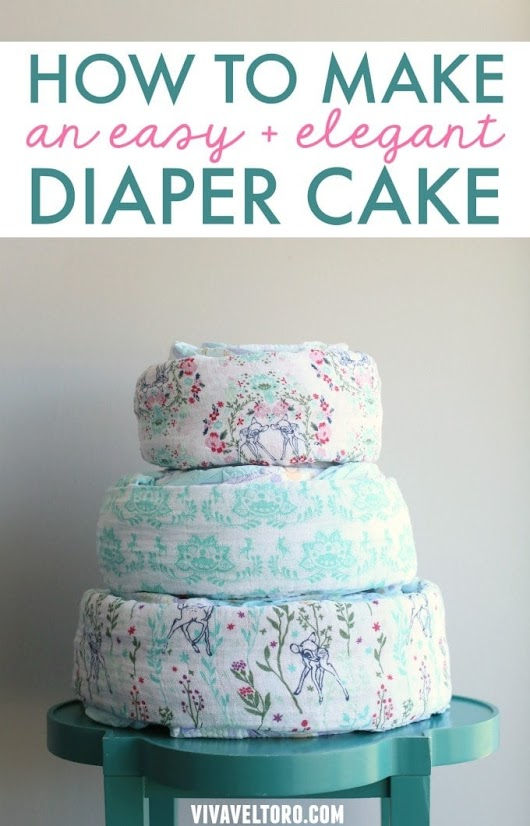 How To Make a Baby Shower Diaper Cake {Plus, It's Diaper Madness at Sam's Club!}