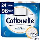 Cottonelle Ultra Clean Care Toilet Paper, White - 24 Rolls