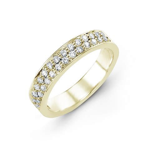 Double Row Diamond Band   Timeless Wedding Bands