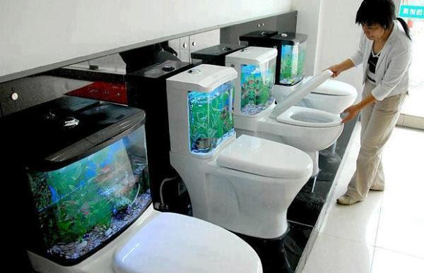 Fantastic Aquarium Design on Toilet Tank | Home Design, Garden