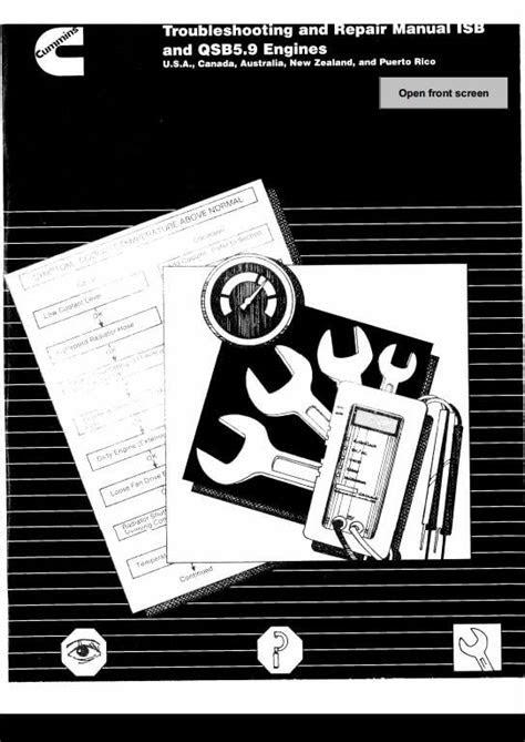 Cummins ISB and QSB5.9 Engines Service Repair Manual | A