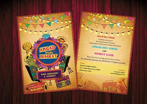 Angad weds Nimrat   wedding invitation card on Behance