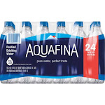 Aquafina Purified Drinking Water - 24 pack, 16.9 fl oz bottles