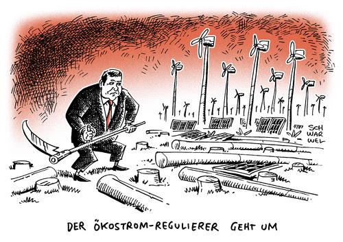 Cartoon: Neuausrichtung Energiepolitik (medium) by Schwarwel tagged neuausrichtung,energiepolitik,energie,politik,wirtschaftsminister,sigmar,gabriel,ausbau,erneuerbare,energien,begrenzung,grüner,strom,wettbewerb,karikatur,schwarwel,wind,windräder,natur,umwelt,erhaltung,klima,sonne,nutzung,stromverbrauch,subventionierung,preis,markt,nachfrage,marktwirtschaft,geld,finanzen,wirtschaft,kapitalismus,eeg,photovoltaikanlagen,förderung,klimaschutz,energiewende,neuausrichtung,energiepolitik,energie,politik,wirtschaftsminister,sigmar,gabriel,ausbau,erneuerbare,energien,begrenzung,grüner,strom,wettbewerb,karikatur,schwarwel,wind,windräder,natur,umwelt,erhaltung,klima,sonne,nutzung,stromverbrauch,subventionierung,preis,markt,nachfrage,marktwirtschaft,geld,finanzen,wirtschaft,kapitalismus,eeg,photovoltaikanlagen,förderung,klimaschutz,energiewende